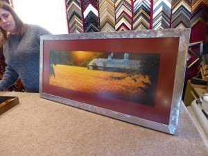 stainless steel picture frame.